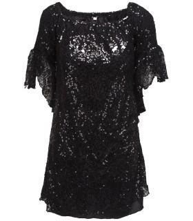 Goddess sequin dress with sleeve