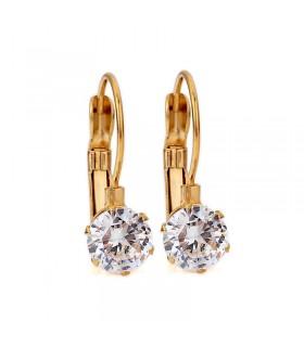 Aqua Dulce stor krystal ørering guld