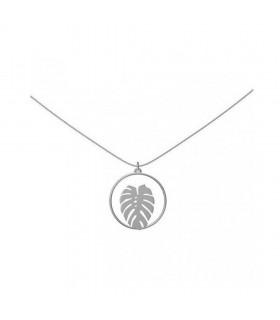 Aqua Dulce lang sølvkæde med blad