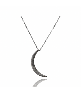 Aqua Dulce sølvkæde med måne
