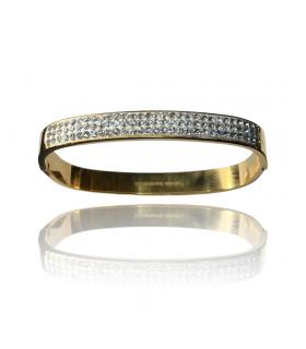 Aqua Dulce lille firkantet bredt armbånd sølv